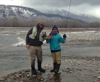 winter fly fishing success on the Snake river