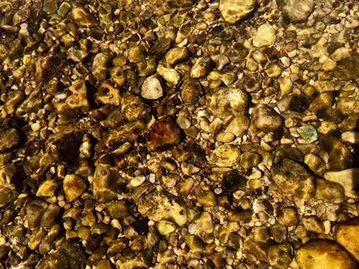 gravel bottom of Flat Creek