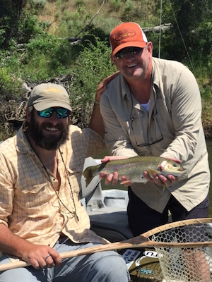 Nick with a nice Green river Rainbow