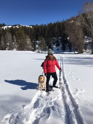 my lady and dog
