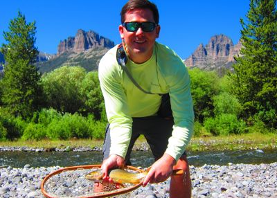 Andrew with Yellowstone Cutthroat