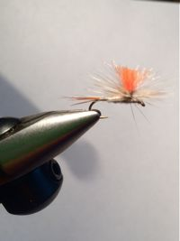 Fly with chili pepper hackle