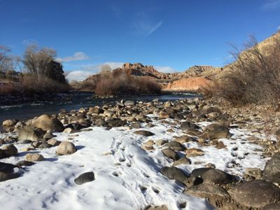 Dubois' Wind River in December