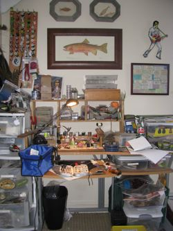 Teton Fly Fishing tying desk