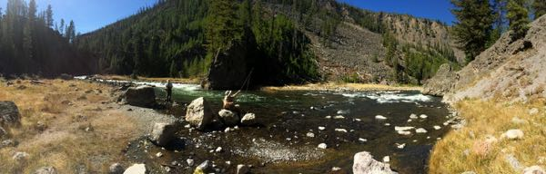 Fishing the Firehole Canyon