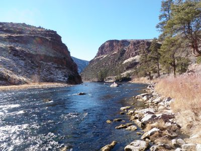 Flaming gorge, green river