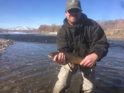 Jason shows off a nice snake river cutthroat trout
