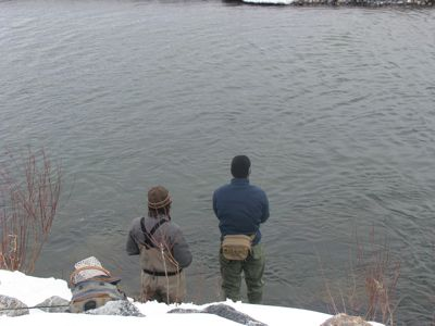 winter fishing in Jackson Hole