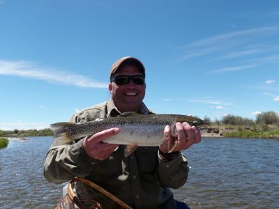 Jon   with his Green River rainbow