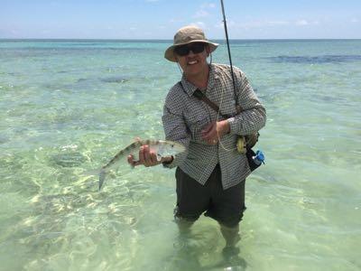 Kurt with bonefish