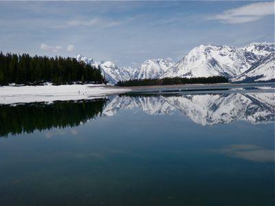 ice   off jackson lake