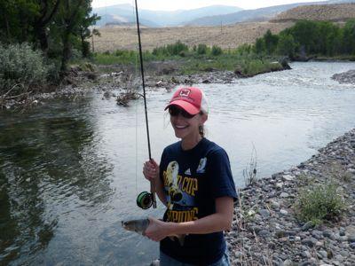 Lauren's first trout