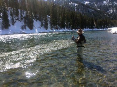 mid march midge fishing