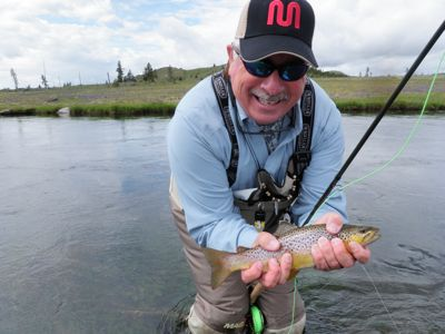 Mark celebrates on the firehole