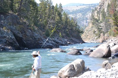 Teton Fly Fishing in Yellowstone's Black Canyon