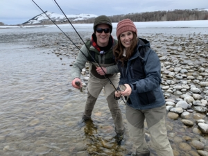 Winter fly fishing in Jackson Hole